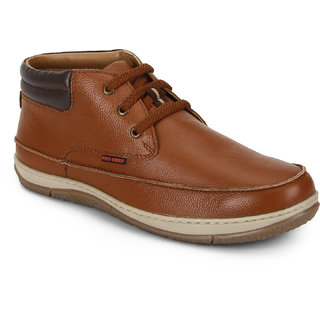 Red Chief Tan Low Ankle Leather Boot For Men (RC3482 107)