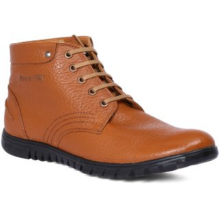 Red Chief Tan Mid Ankle Leather Boot For Men (RC3508 006)