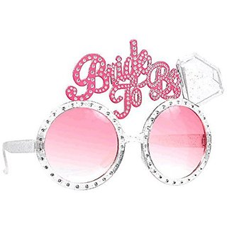 Smartcraft Bride To Be Glasses - Pink  Bride-to-be Eye Glasses Adult Party Supplies  Bachelorette Party  Party Props