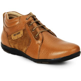 Red Chief Tan Low Ankle Leather Boot For Men (RC3513 006)