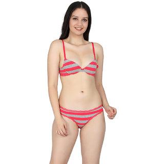 Kotty Women Multicolor Plain Bra Panty Set
