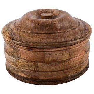 Desi Karigar Wooden Chapati Box