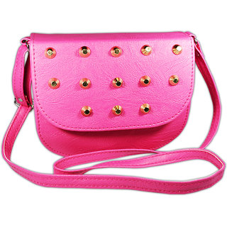 Adbeni Stylish Sling Bag For Girls (Pink)