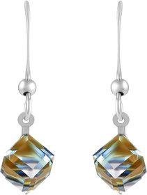 Sukai Jewels Crystal Multi Colour Reflection Diamond Drop Earring for Women & Girls [SER144G]