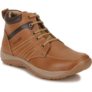 Red Chief Tan Mid Ankle Leather Boot For Men (RC3519 107)