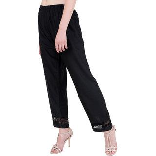 RMG Fashion Black Stylish & comfortable Plazo Pants