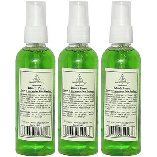 Khadi Pure Herbal Neem Cucumber Face Freshener - 100ml (Set of 3)