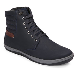 Red Chief Blue High Ankle Leather Boot For Men (RC3550 002)
