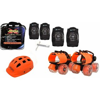 Jaspo Halloween Intact junior Skates combo(skates+helmet+knee+elbow+bag)suitable for age upto 5 years