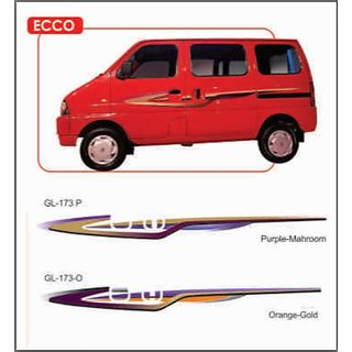 MARUTI EECO SIDE STICKER /GRAPHICS / DECALS SUPERIOR QUALITY