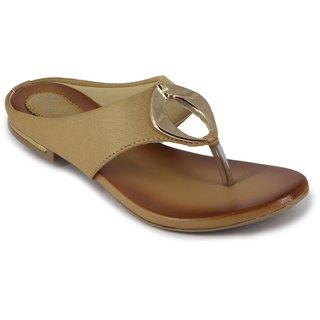 Zipx Women's Tan Slippers