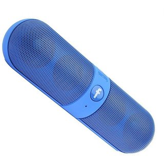 Bluetooth Speaker with FM  Pendrive Stereo Pill Shaped Works with all PC/Laptop/Mobile Android or all Device- Multicolor