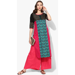 Varkha Fashion Multicolor Printed Stitched Kurti For Women