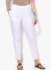 Varkha Fashion Cotton Solid White Pants