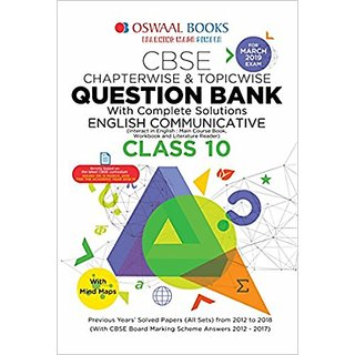 Oswaal CBSE Question Bank Class 10 English Communicative Chapterwise and Topicwise (For March 2019 Exam) Paperback  2