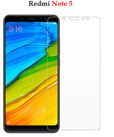 Redmi Note 5  -  Premium Flexible 2.5D  Pro Hd+ Crystal Clear Tempered Glass Screen Protector For Redmi Note 5