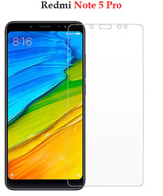 Redmi Note 5 Pro Premium Flexible 2.5D  Pro Hd+ Crystal Clear Tempered Glass