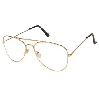 Code Yellow Transparent Golden Stylish Aviator Sunglass Spectacle Frame for mens and womens