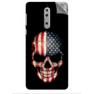 Snooky Printed Vinyl Mobile Skin Sticker For Nokia 8