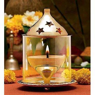 Viable Decor  Brass Golden Akhand Diya Big For Puja