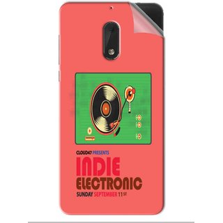 Snooky Printed Vinyl Mobile Skin Sticker For Nokia 6