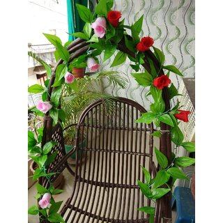 TR Artificial Leaves Flower For Decoration Home Wall Hanging Craft Creeper Outdoor
