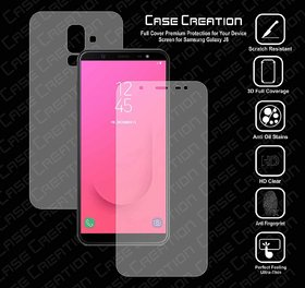 Screen Protector All Round 360 Skin Protection for Samsung Galaxy J8 (Front ,Anti-Shock Proof,Unbreakable)