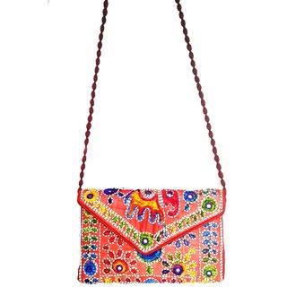 Ruposhree Women Ladies Girl Fancy Sling Bag 9 by 6(Gujrathi Embroidery Work)
