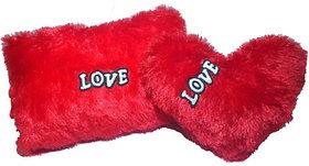 Set of 2 Heart Shape Love Soft Cushion Pillow Teddy Bear Valentine Love Gift