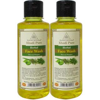 Khadi Pure Herbal Face Wash - 210ml (Set of 2)