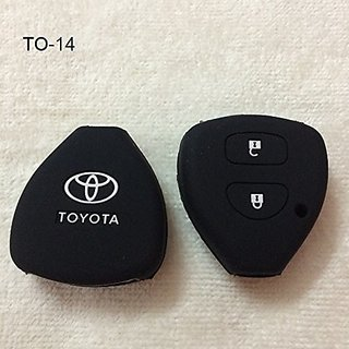 CP BIGBASKET Silicone key cover for Toyota Innova / Fortuner /Corolla with 2 button remote key