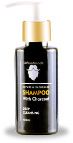 UrbanMooch Activated Charcoal Shampoo for Soft  Silky Hair 100ml