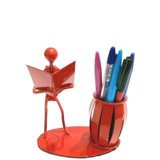 Desk Organizer Bookman Pen Pencil Holder/Stand-Metal