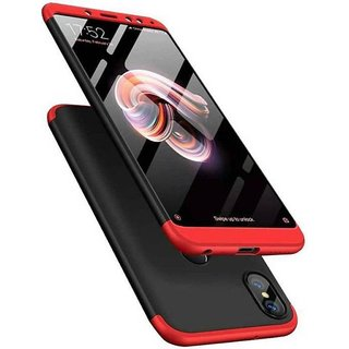 3 in 1 360 Full Body Slim Fit Protection Hybrid Hard Back Cover for Xiaomi Mi Y2 - Red