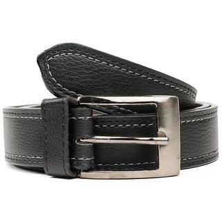 Unique Leatherite Stylish Black Belt (Cmb-01) (Synthetic leather/Rexine)
