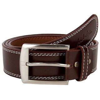 Unique Leatherite Stylish Brown Belt (Cmb-02) (Synthetic leather/Rexine)