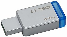 Kingston DataTraveler 64GB USB 3.0 Flash Drive (Gray)