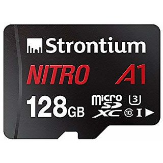 Strontium Nitro A1 128GB Micro SDXC Memory Card 100MB/s A1 UHS-I U3 Class 10 with High Speed Adapter for Smartphones Tab