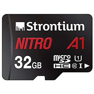 Strontium Nitro A1 32GB Micro SDHC Memory Card 100MB/s A1 UHS-I U1 Class 10 with High Speed Adapter for Smartphones Tabl