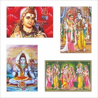 Shiv Parvati Poster Set of 4 Set 93