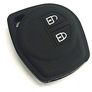 CP Bigbasket Silicon Key Cover for Suzuki 2 Button Remote Key (black)
