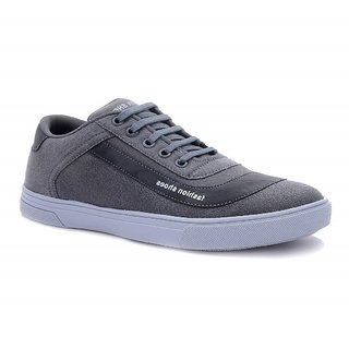 CYRO Men's Grey Synthetic Leather Casual Shoes