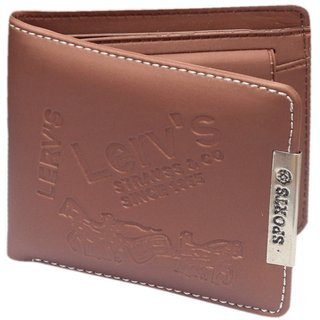 Unique Stylish Sports Light Brown Wallet ( Lrv-03) (Synthetic leather/Rexine)