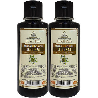 Khadi Pure Herbal Bhringraj Hair Oil - 210ml (Set of 2)