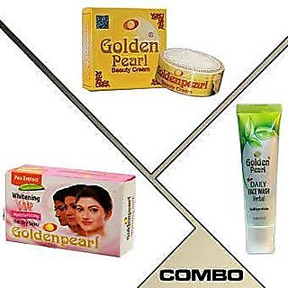 BUY GOLDEN PEARL BEAUTY CREAM (3 Pcs Pack) GET 1Pc FACE WASH 1Pc Soap and 1 cream