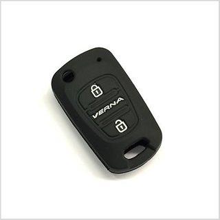Black Silicone Car Auto Remote Fob Key Holder Case Cover For Hyundai Verna