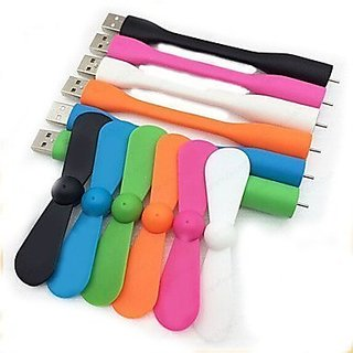 KSJ Portable Usb Flexible Fan (Assorted Colors)