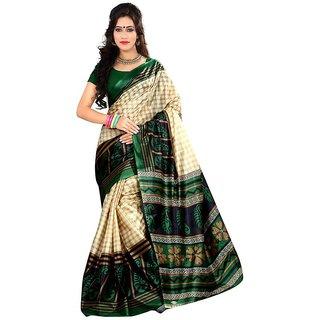 Svb Saree Multicolour Art silk Saree Without Blouse Piece