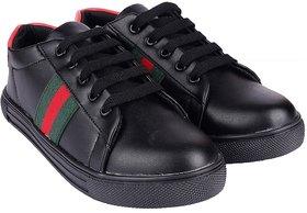 Do Bhai Women's Black Sneakers