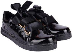 Do Bhai Women's Black Sneakers - 140750214